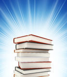 Colored books on background stock images