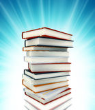 Colored books on background Stock Image