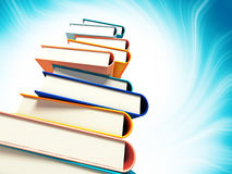 Colored books on background Stock Photos