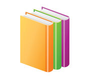 Colored books Stock Images