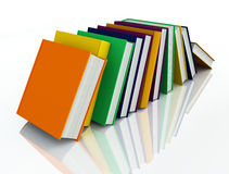 Colored books isolated on white Stock Photos