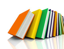 Colored books isolated on white Royalty Free Stock Photography