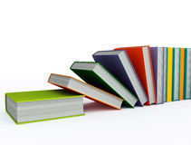 Colored books isolated on white Stock Images