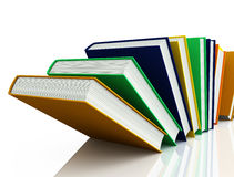 Colored books isolated on white Royalty Free Stock Images