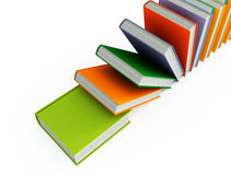 Colored books isolated on white Royalty Free Stock Photos