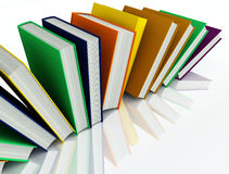 Colored books isolated on white Stock Image