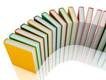 Colored books isolated on white Stock Photography