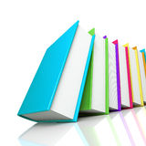 Colored books isolated on white background Stock Image
