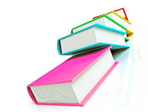 Colored books isolated on white background Royalty Free Stock Photos