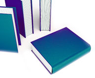 Colored books isolated on white background Stock Photography