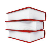 Colored books isolated on white background Stock Images