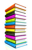Colored books massive Stock Photography