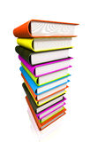 Colored books massive Royalty Free Stock Images