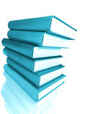 Colored books massive Royalty Free Stock Photos