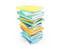 Colored books over white Stock Photo