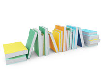 Colored books over white Stock Images