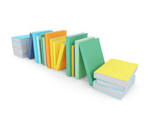 Colored books over white Royalty Free Stock Photos
