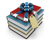 Colored books and ribbon. Stock Image
