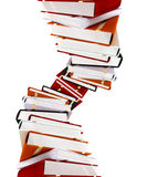 Colored books on white Stock Image