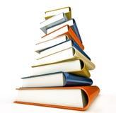 Colored books on white Stock Photo
