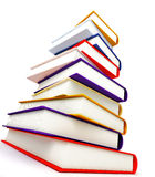 Colored books on white Stock Photos