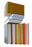 Colored books on white background Stock Image