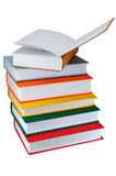 Colored books on white background Royalty Free Stock Images
