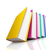 Colored books on white background Royalty Free Stock Photo