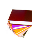 Colored books on a white background. Royalty Free Stock Photo