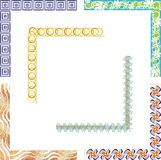 Colored border designs. A set of 6 colored border designs Royalty Free Stock Photos