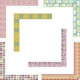 Colored border designs. A set of 6 colored border designs Stock Photography