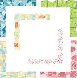 Colored border designs. A set of 6 colored border designs Royalty Free Stock Images