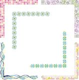 Colored border designs. A set of 6 colored border designs Royalty Free Stock Photography