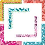 Colored border designs Stock Photos