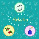 Colored bottle of cream with the arbutin. vector illustration