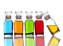 Colored Bottles Stock Image