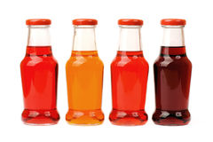 Colored bottles Stock Images