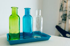 Colored bottles Royalty Free Stock Photography