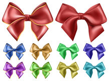 Colored bow set Stock Images
