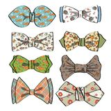 Colored  bow tie with simple pattern.Retro fashion Stock Image
