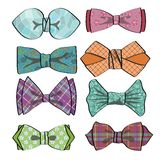 Colored  bow tie with simple pattern.Retro fashion Stock Photo