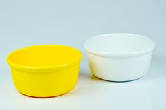 Colored bowl. On the white background Royalty Free Stock Photography