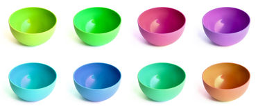 Colored bowls Royalty Free Stock Image