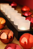 Colored Bowls And Candle Bar - Vertical Stock Image