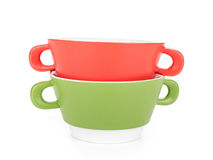 Colored bowls Royalty Free Stock Photography
