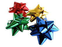 Colored bows. Four colored decorative bows on white background Stock Images