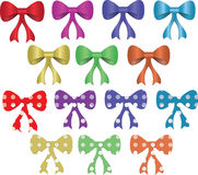 Colored bows Royalty Free Stock Images