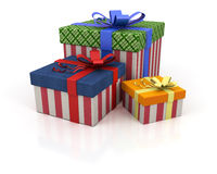 Colored box with gifts Stock Photos