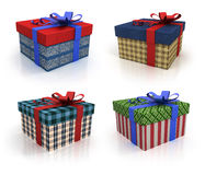 Colored box with gifts Stock Photo