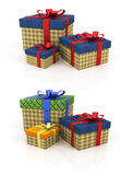 Colored box with gifts Royalty Free Stock Photo